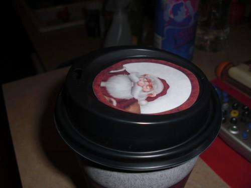 Santa Cup Lid