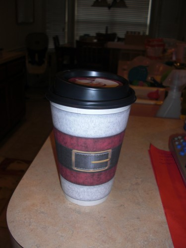 Santa Clause Cups with Hot Cocoa Mix Inside